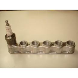 SB04 Support aluminium 6 bougies de 18