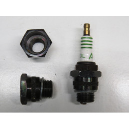 CA02 culot adaptateur de bougie 14/18 mm noir