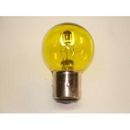 L0604 lampe 2 plots 3 ergots jaune BA21D 6 volts 40/45W ou 36/45W