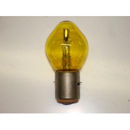 "L0611 Lampe ""Bosch"" 2 plots 2 ergots plats jaune BA20D 18/18 W 6 Volts"