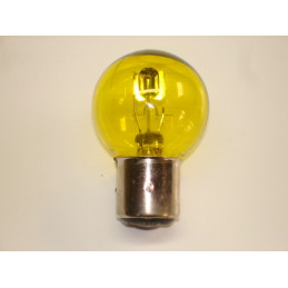 L1244 lampe 2 plots 3 ergots BA21D jaune 12 volts 36/36W