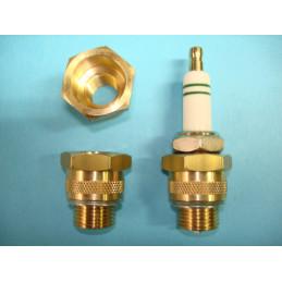 culot adaptateur de bougie 14/18 mm laiton