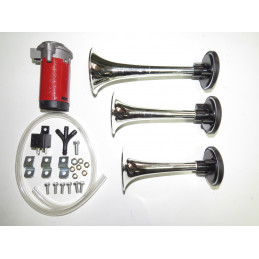 avertisseur pneumatique 3 trompes 12 volts