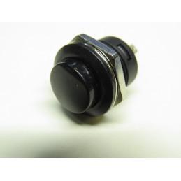 Mini bouton poussoir noir