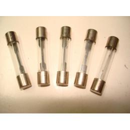 5 fusibles verre 6,3 x 32 20 Amp.
