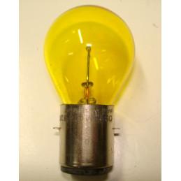 """Lampe """"Bosch"""" 1 plots 2 ergots plats jaune BA20S 50 W 24 Volts"""