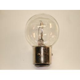 lampe 2 plots 3 ergots blanche BA21D 6 volts 36/36W