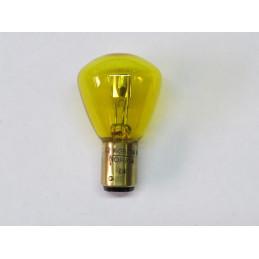 L1261 Lampe BA15d 12 Volts 36/36W jaune arquée 2 plots 2 ergots