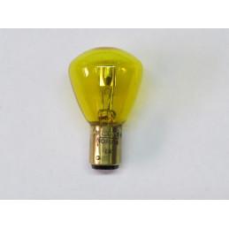 L0644 LampeBA15d 6 Volts 15/15 W jaune 2 plots 2 ergots