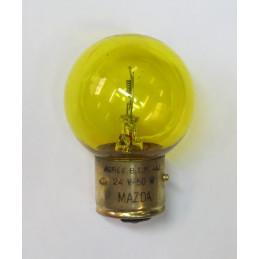 L2415 lampe 2 plot 3 ergots BA21d jaune 24 volts 50W