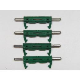 FU03/10R 4 fusibles SIMCA 10 Amp. cosses rondes