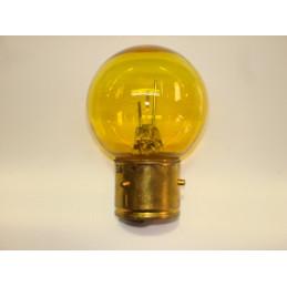 L0605 lampe 1 plot 3 ergots jaune BA21S 6 volts 45W
