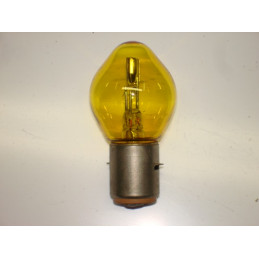 "L0610 Lampe ""Bosch"" 2 plots 2 ergots plats jaune BA20D 36/45 W 6 Volts"