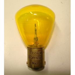 L1251 Lampe BA15S 12 Volts 36W jaune arquée