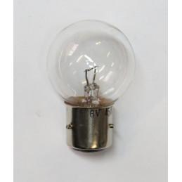 L0607 lampe 1 plot 3 ergots blanche BA21S 6 volts 45W